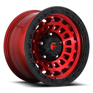 ZEPHYR 5 LUG 17x9 CANDY RED BLK RING A1 300 4000