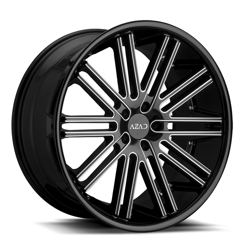 az22 milled black with black 22x9 22x105 beauty