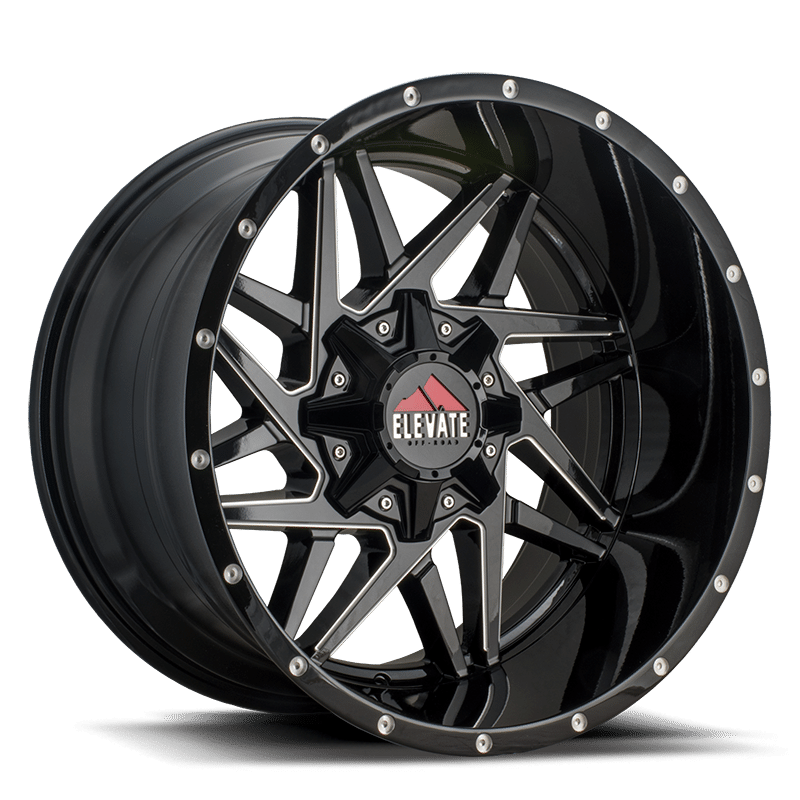 elv81 black milled 20x10 20x12 22x14