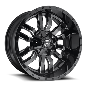 SLEDGE 20x10 GLOSS BLK AND MILLED A1 3001